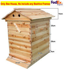 Natural Wooden Brood Beekeeping House For 7 PCS Auto Flow Honey Beehive Frames