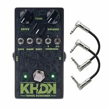 KHDK Kirk Hammett Ghoul Screamer Overdrive Guitar Effects Pedal & Patch Cables
