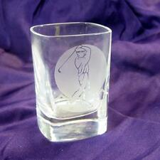 Engraved - Golf Shot Glass- Frosted effect figure mid swing- In box