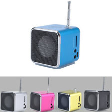Portable Digital LCD Mini Rechargeable Music Speaker USB FM Radio