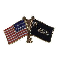 Phi Kappa Sigma Flag and USA Flag Lapel Pin