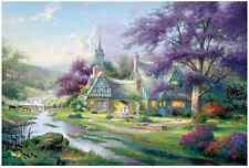 "Jigsaw Puzzles 1000 Pieces ""Clocktower Cottage"" / Thomas Kinkade"
