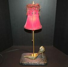 Table Lamp High Heel Shoe Hand Made Light Upcycled One of a Kind