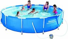 Bestway 56416 12 ft x 30-Inch Steel Pro Frame Pool Set with Flow Clear Filter...