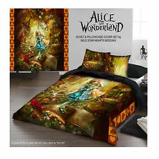ALICE IN WONDERLAND - Duvet Cover Set for UK KING / US QUEENSIZE BED