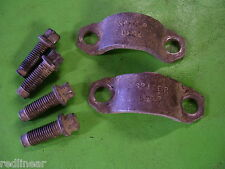 01 Dodge Ram cummins diesel Dana Spicer 80 REAR U-Joint Straps Bolts Yoke
