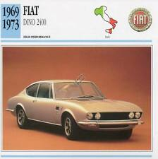 1969-1973 FIAT DINO 2400 Classic Car Photo/Info Maxi Card