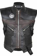 Fast Shipping  Hawkeye Vest Leather The Avengers Jeremy , FAUX Leather Jacket