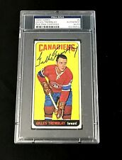 GILLES TREMBLAY SIGNED TOPPS 1964 TALL BOYS MONTREAL CANADIENS CARD #2 PSA/DNA