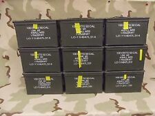 9(Nine) M2A1 50cal Ammo Cans Grade 1 Very Good Military Army Surplus