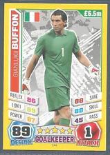 TOPPS MATCH ATTAX  BRAZIL 2014 WORLD CUP- #144-ITALY-GIANLUIGI BUFFON