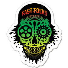 "Fast Folks Skull Styling car bumper sticker decal 5"" x 4"""