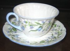 VINTAGE SHELLEY HAREBELL BLUE BELL FINE BONE CHINA TEA CUP & SAUCER