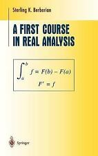 A First Course in Real Analysis (Undergraduate Texts in Mathematics), Berberian,
