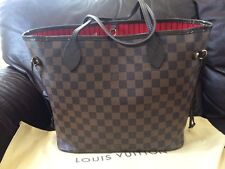 Authentic Louis Vuitton Neverfull MM  Damier Ebene Canvas