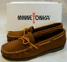 Minnetonka Men's Camp Moccasins - Dusty Brown - Mens 10.5 - Wide