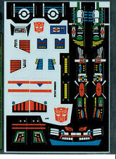 TRANSFORMERS GENERATION 1, G1 AUTOBOT GRIMLOCK REPRO LABELS / STICKERS