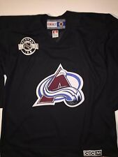Men's NHL CCM Colorado Avalanche Center Ice Authentic Black Hockey Jersey L