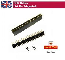 40 Pin GPIO 2x20 Female Header AND 40 Male PINS for Raspberry Pi Zero