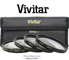 4Pc Vivitar Close Up Macro +1/+2/+4/+10 Lens Set For Fujifilm X-Pro1