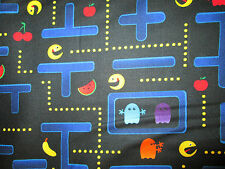 Pac Man Video Nintendo Space Invaders Games Cottton Fabric FQ