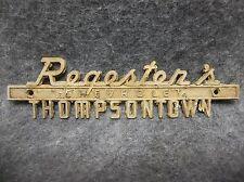 Vintage 1970's Regester's Chevrolet Thompsontown PA Car Emblem 19087