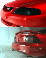 Smoke Head Light + Tail Light Covers for 1999 - 2004 Ford Mustang