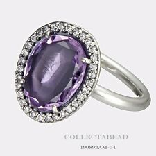 Authentic Pandora Silver Amethyst Glamorous Legacy Ring Size 56 190893AM