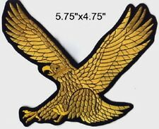 "Golden Eagle Embroidered Patches 5.75""x4.75"""