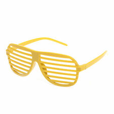Unisex Shutter Shades / Glasses - Yellow