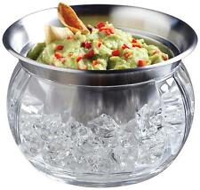 Serving Bowl Food Cold 3 Piece Stainless Steel Party Storage Acrylic Dip on Ice