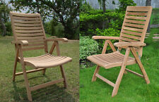Ashley A-Grade Teak Wood Dining Reclining Folding Arm Chair Outdoor Furniture NW