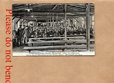 WW1 German Postcard Of A mess hall on the germam Belgium border .a01