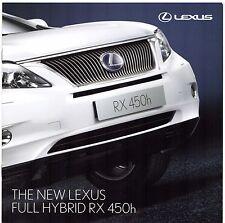 Lexus RX 450h 2009 UK Market Launch 8pp Sales Brochure