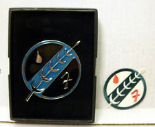 """Star Wars Limited Edition Boba Fett Family Crest Giant 3"""" Metal Pin w/ Patch"""