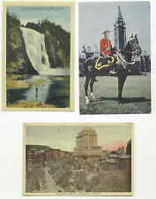 2 Quebec Canada 1 Mounted Police POSTCARDS