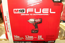 "Milwaukee 2763-21XC 1/2"" High Torque Impact Wrench w Friction Ring Kit M18 Fuel"