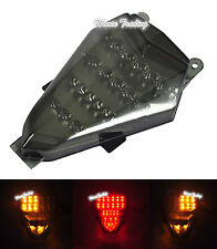 Chrome Led Tail Brake Turn Signals Light Smoke For 2006-2007 YAMAHA YZF R6 RJ11