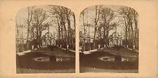 Photographie stéréo Fontaine Medicis Luxembourg avant le bassin avant 1862