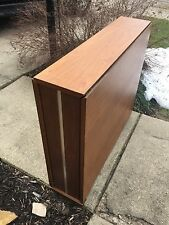 Vtg Mid Cent Folding Hideaway Dining Table Danish Style Drop Leaf Extension