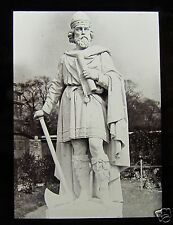 JV Glass Magic Lantern Slide STATUE OF KING ALFRED THE GREAT C1890