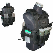 GXG Deluxe Tactical Paintball Vest Harness - Black