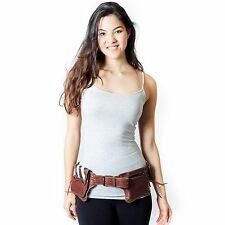 Cowboy Leather Fannypack Waistbag Travel Utility Belt-Brown-70132