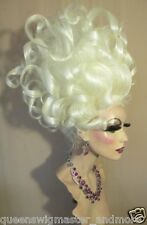 Drag Queen Wig Teased Medusa Ursula Up Do Wild Curls and French Twist