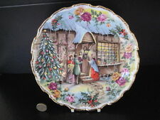 Royal Albert England Old Country Roses Plato de Navidad Carol cantantes Fred Errill