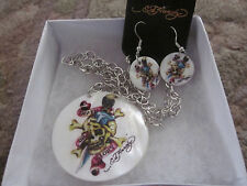 Ed Hardy Necklace and Earring Set (2)