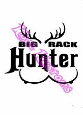 VINYL DECAL STICKER BIG RACK HUNTER...HUNTING...FUNNY...CAR TRUCK WINDOW