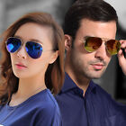 New Fashion Aviator Unisex Womens Mens Sunglasses Mirror Lens Eyewear Shades