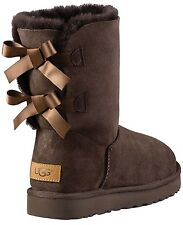UGG Australia BAILEY BOW II CHOCOLATE SUEDE BOOTS US 11 EU 42 UK 9.5 LAST PAIR
