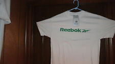 REEBOK t-shirt S/S white with cool green Reebok size mediumtall BRAND NWT in BAG